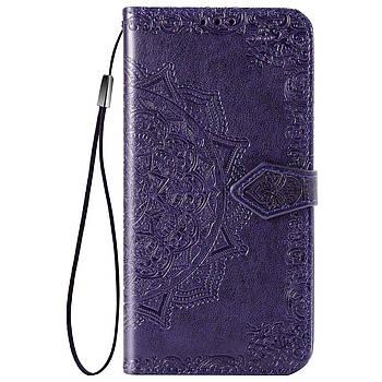 Шкіряний чохол (книжка) Art Case з візитницею для TECNO POP 2F Фіолетовий