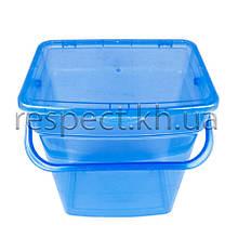 Пластиковий контейнер для продуктів прямокутний 6 л (з ручкою)