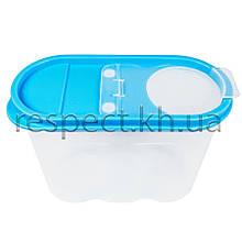 Пластиковий контейнер для сипучих продуктів 1,3 л