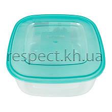 Пластиковий контейнер для продуктів квадратний 0,5 л
