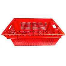Ящик пластиковий поворотний (червоний)