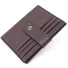 Картхолдер унісекс Vintage 20447 Темно-коричневий