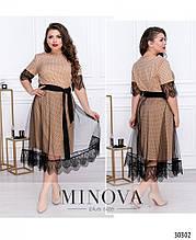 Жіноче ошатне плаття №8603-Капучіно