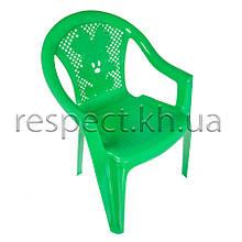 """Крісло дитяче пластикове """"Малютка"""" зелене"""