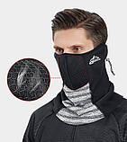 Велосипедна маска балаклава GOLOVEJOY bazoo gray, фото 5