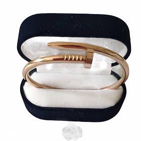 Браслет картье Cartier 16S, Гвоздь, Розовое Золото