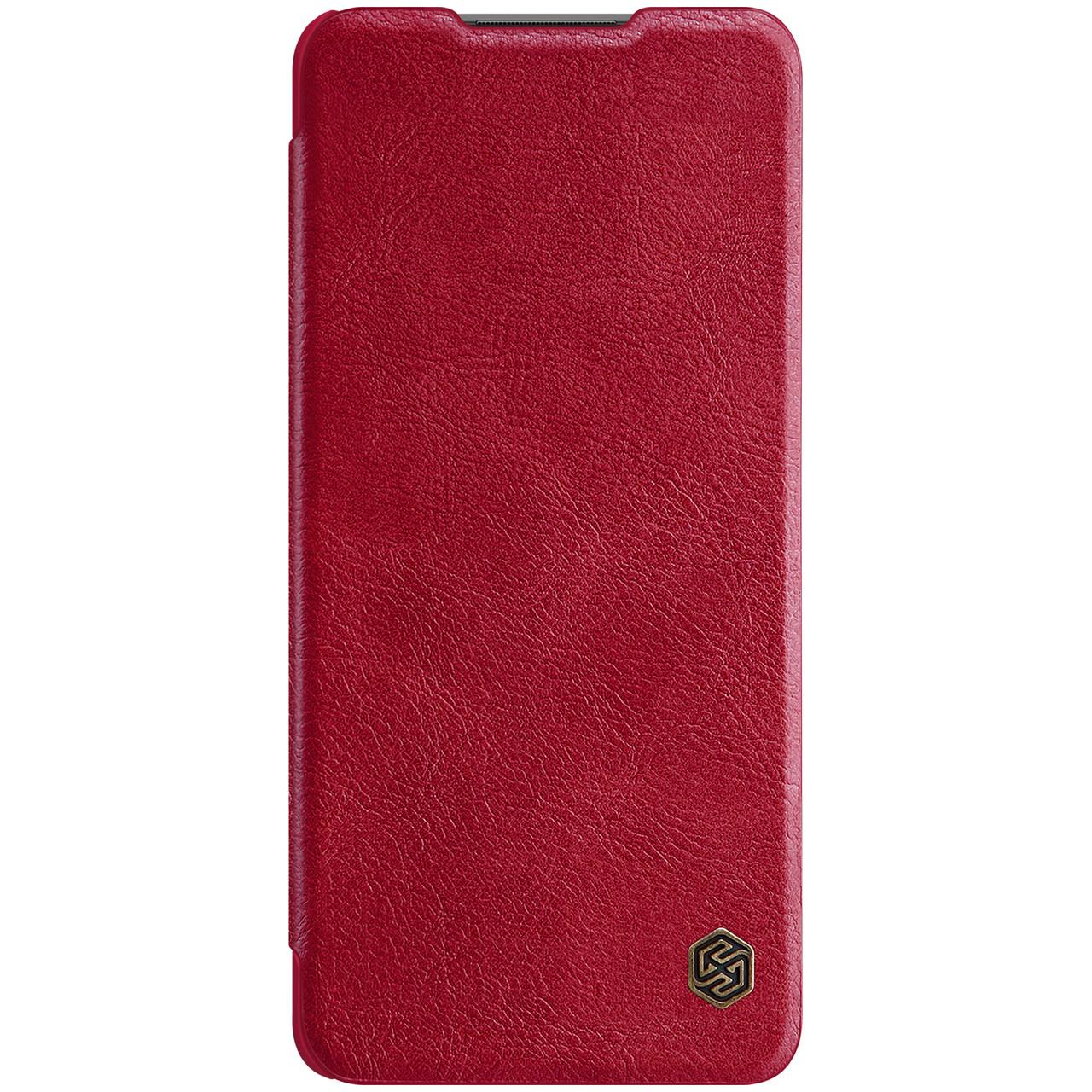 Защитный чехол-книжка Nillkin для Xiaomi Redmi Note 10 Pro / 10 Pro Max Qin leather case Red Красный