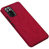 Защитный чехол-книжка Nillkin для Xiaomi Redmi Note 10 Pro / 10 Pro Max Qin leather case Red Красный, фото 5