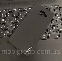 Чехол силиконовый матовый Baseus (Copy) для Samsung A510, Черный