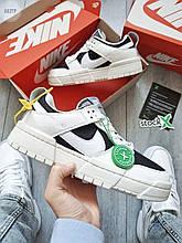 Чоловічі кросівки Nike dunk low disrupt white/black (чорні з білим) 662TP стильні спортивні кроси