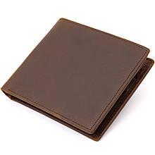 Портмоне унісекс матове Vintage 20445 Темно-коричневе