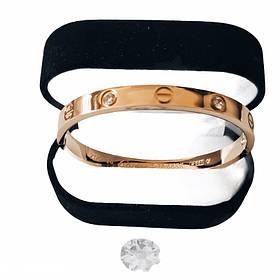 Браслет Картье Cartier Love 16S, 4 камня, Желтое Золото
