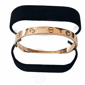 Браслет Картье Cartier Love 16S, 4 камня, Розовое Золото