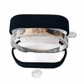 Браслет Картье Cartier Love 19S без камней, Белое Золото