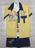 """Костюм трійка дитячий літній на хлопчика 4-9 років (мікс цв) """"Fashion Kids"""" купити оптом в Одесі на 7км"""