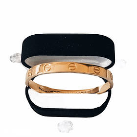 Браслет Картье Cartier Love 19S без камней, Желтое Золото