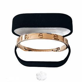 Браслет Картье Cartier Love 19S без камней, Розовое Золото