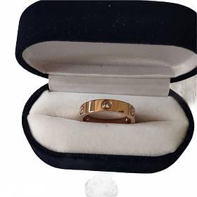 Кольцо Картье Cartier 11S, Love, 3 камня, Розовое Золото