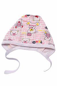 Шапочка для новорожденных на флисе белая ABC 126984P