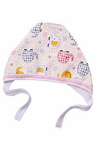 Шапочка для новорожденных на флисе белая ABC 126985P