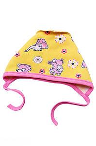 Шапочка для новорожденных на флисе желтая ABC 126990P