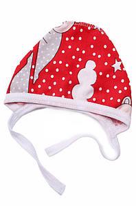 Шапочка для новорожденных на флисе красная ABC 126982P