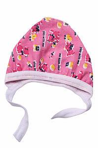 Шапочка для новорожденных на флисе розовая ABC 126973P