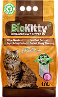 Наполнитель с белого бентонита BioKitty Plus Compact Size (0,6-4mm) Baby Powder 10л