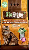 Наповнювач з білого бентоніту BioKitty Compact Plus Size (0,6-4mm) Baby Powder 10л