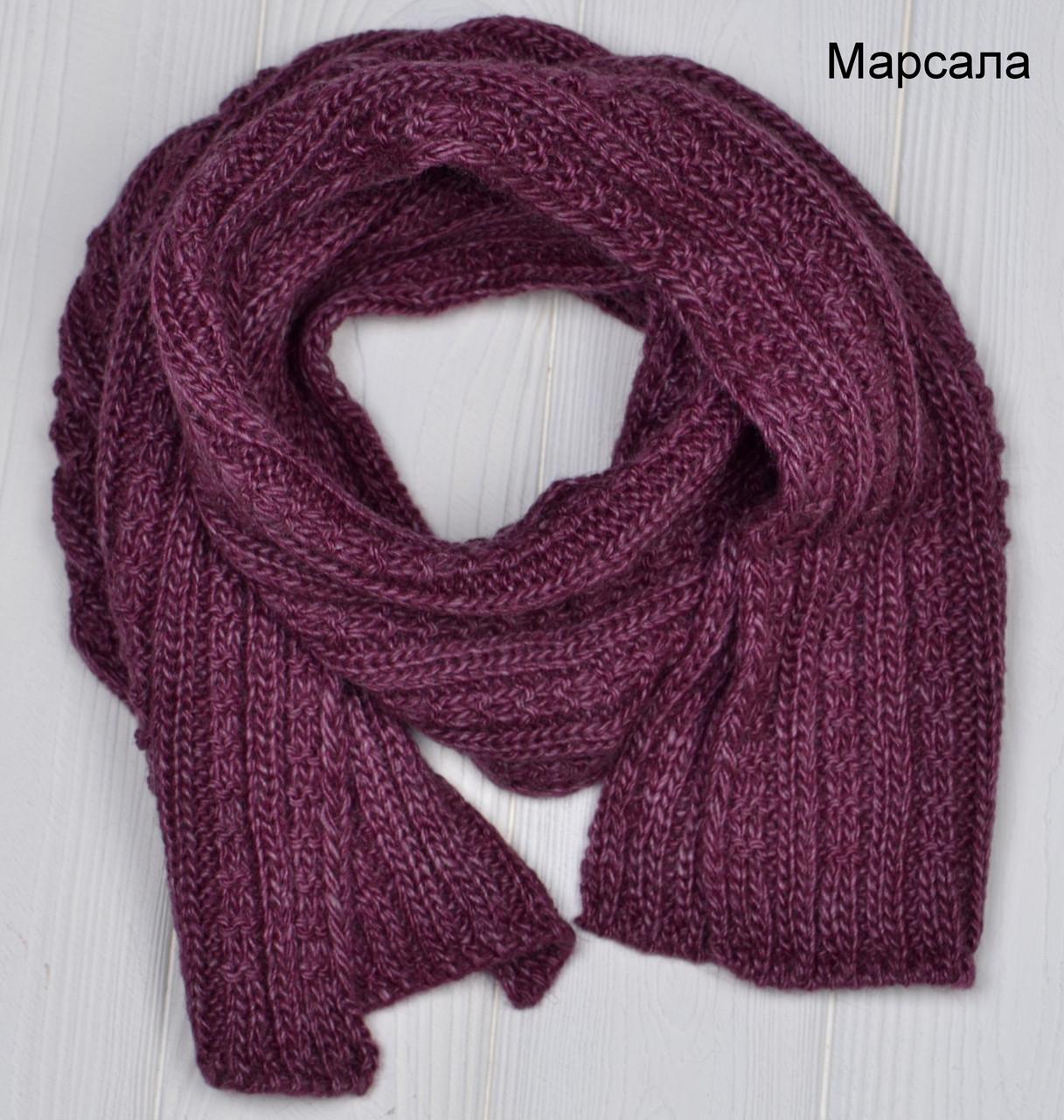 Вязанный шарф под шапку