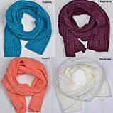 Вязанный шарф под шапку, фото 6