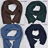 Вязанный шарф под шапку, фото 7