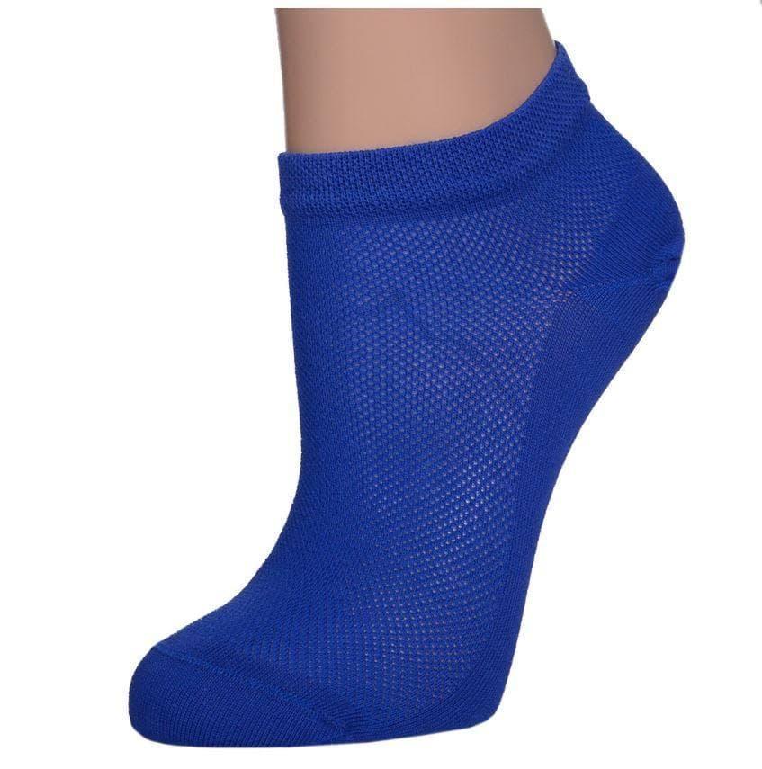 Носки летние хлопок укороченные сетка Житомир размер 36-40 синие