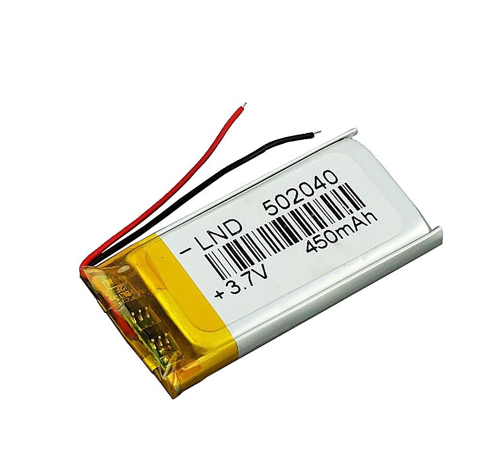 Аккумулятор (450 мАч) для видеорегистратора, радиотелефона, зеркала, домашнего телефона 450mAh 502040 3.7v