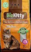 Наполнитель с белого бентонита BioKitty Plus Compact Size (0,6-4mm) Baby Powder 5л.