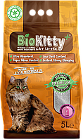 Наповнювач з білого бентоніту BioKitty Compact Plus Size (0,6-4mm) Baby Powder 5л.
