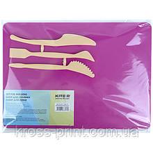 Набір для ліплення Kite K17-1140-10 (дошка + 3 стека), розовий
