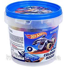 Кольорове тісто для ліплення Kite Hot Wheels HW21-137, 8*20г+2 формочки+стек