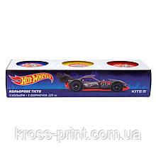Кольорове тісто для ліплення, 3*75г Kite Hot Wheels HW19-151