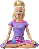 Кукла Йога из серии Безграничный движение Двигайся как я Barbie Made To Move блондинка в фиолетовом топе