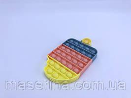 Поп Ит игрушка pop it антистресс  пупырка радуга Мороженное для детей разноцветный