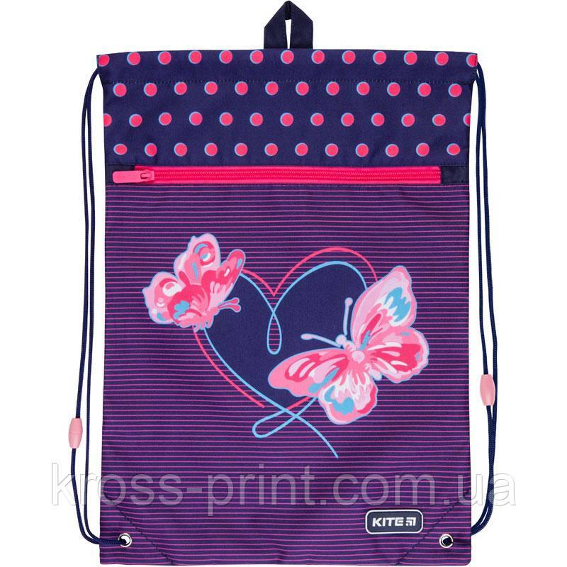 Сумка для взуття з кишенею Kite Education Butterflies K21-601M-3