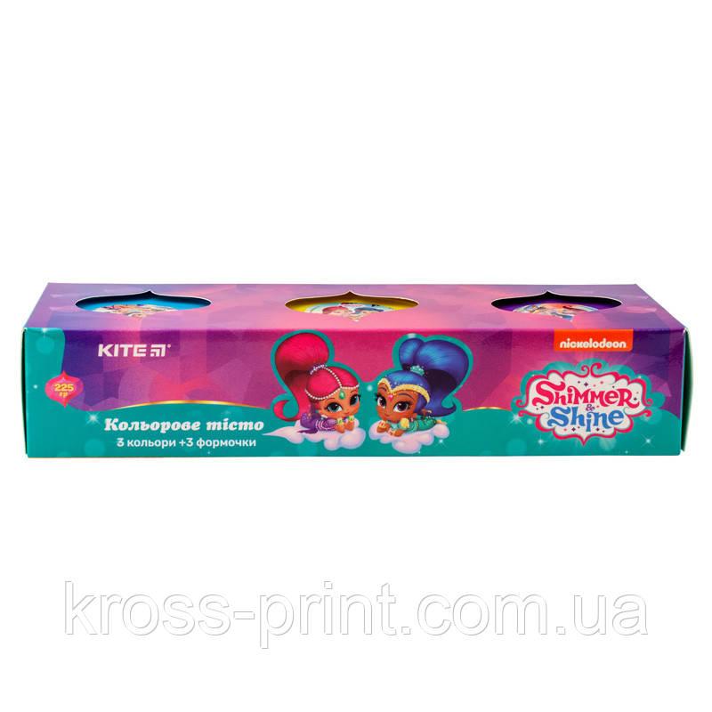 Цветное тесто для лепки, 3*75г Kite Shimmer&Shine SH19-151