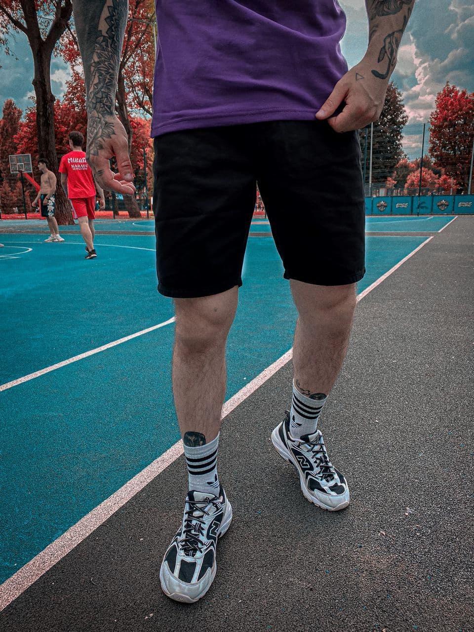 Мужские джинсовые шорты (черные) крутые на лето 2021 s8109