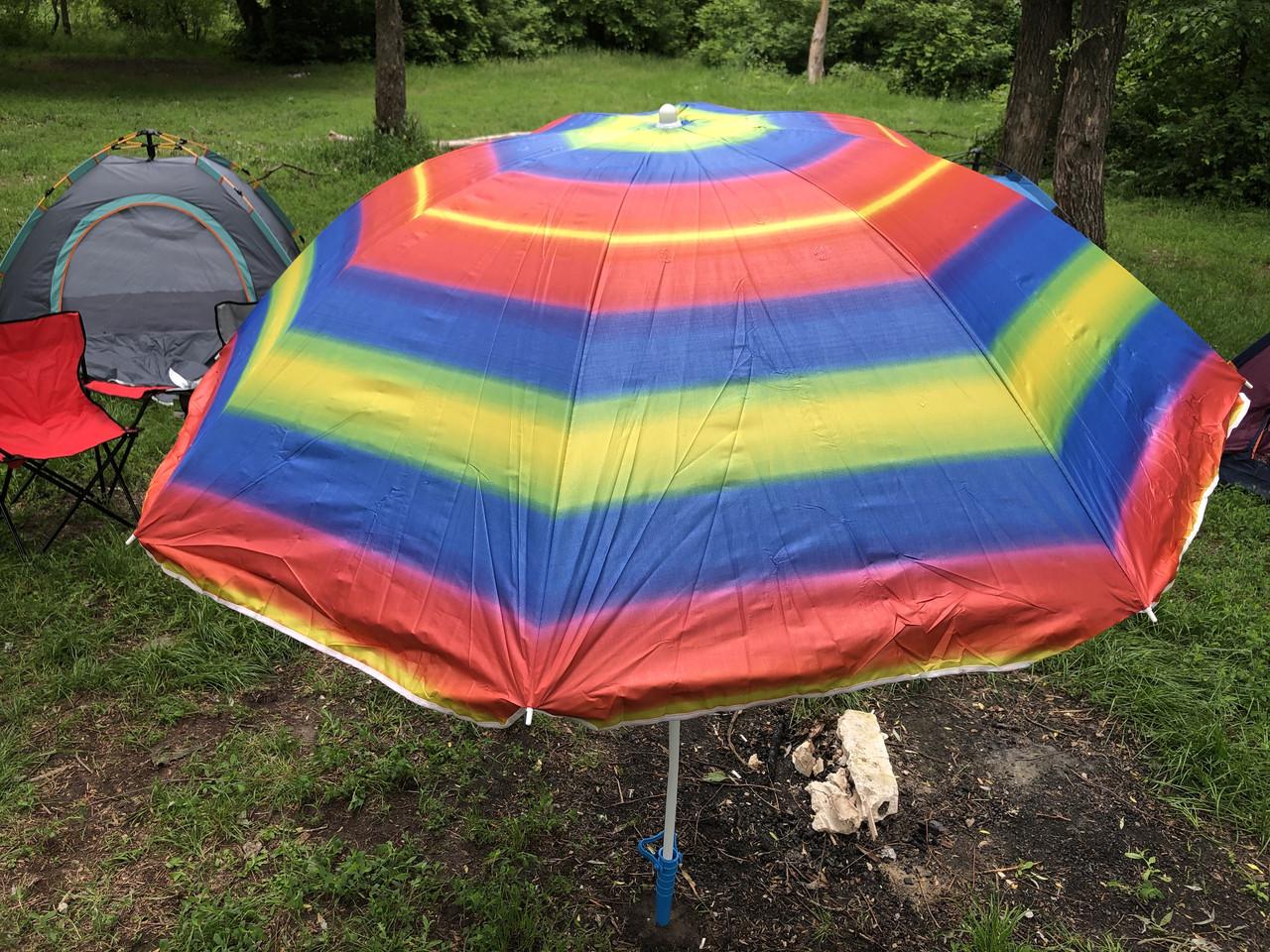 Пляжный зонт с регулируемой высотой и наклоном 180 см 1