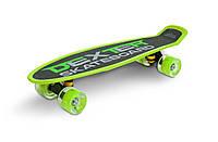 Скейт пенни борд Caretero (Toyz) Dexter + шлем и защита Green