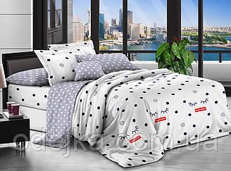 Двуспальный комплект постельного белья евро 200*220 хлопок  (12713) TM KRISPOL Украина