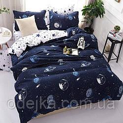 Двуспальный комплект постельного белья евро 200*220 хлопок  (13523) TM KRISPOL Украина