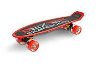 Скейт пенни борд Caretero (Toyz) Dexter + шлем и защита Red