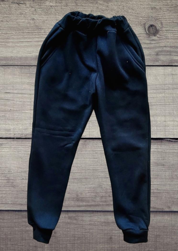 Дитячі ЧОРНІ теплі спортивні штани з трініті